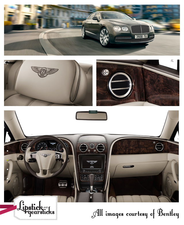 The Bentley Flying Spur Lipstick and gearsticks